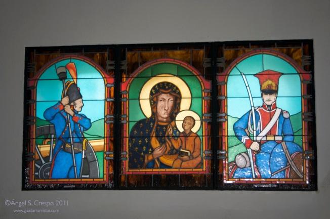 Imagen de la Virgen de Czestochowa en la Ermita de la Soledad.