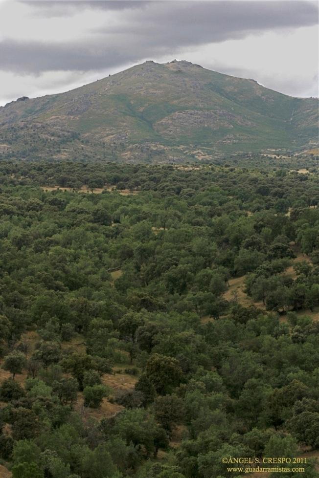 Monte de San Pedro visto desde Guadalix de la Sierra.