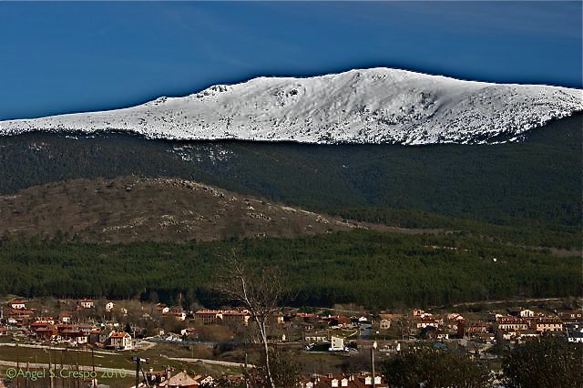 La cumbre de  Peñalara vista desde Valsaín-Segovia.